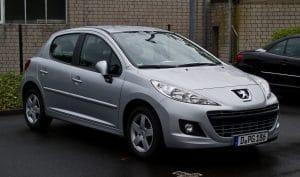 vidange d'une Peugeot 207